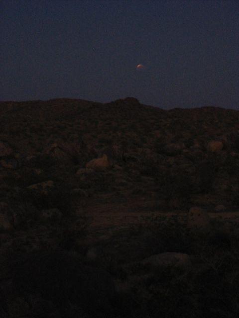 Lunar Eclipse at Wagon Wheel